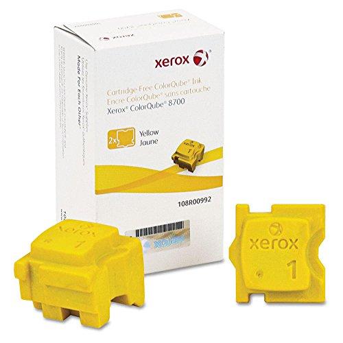 Xerox ColorQube 8700 Yellow OEM Ink Standard Yield (2 Sticks/Box)(8,400 Yield)