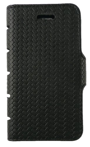 Emartbuy® Apple Iphone 4 4G 4GS Cuir Pu Slim 2 En 1 Wallet Case Etui Coque Noir / Tan Avec Des Logements Pour Carte De Crédit