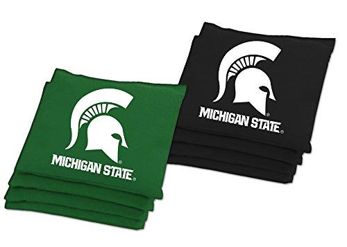 Baggo 1140 Michigan State Spartans Replacement Baggo Game Bean Bags, Green and Black, (Michigan State Bean Bag)