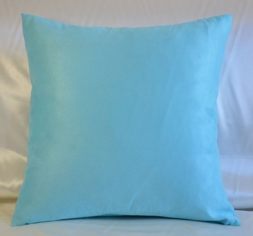 Creative Luxury Faux Suede Pillow Cover / Euro Sham - 24 By 24 Turquoise Suede Euro Sham Cover