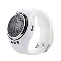 SURMOS Bluetooth Smart Watch RS09 Smart Bracelet With Music Speaker Mobile U Disk SmartWatch For IOS Android (White)