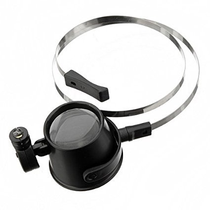 15X Loupe Lens Headband Magnifying Glass Jeweler Watch Repair Magnifier with LED Eye - Chinese Eye Glasses