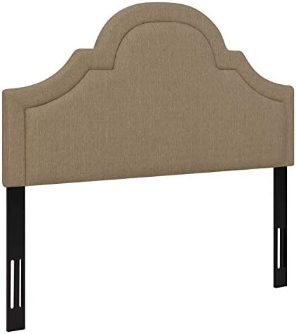 Ravenna Home Traditional Upholstered Headboard -Queen, 61.8 Inch, Flax Tan