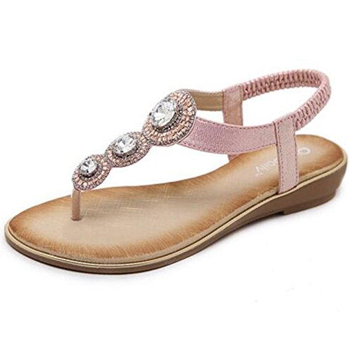 Sandals XIAOLIN Clip Toe Female Summer Student Flat Soft Bottom Non-slip Beach Vacation(Optional Size) (Color : 02, Size : EU39/UK6.5/CN40) 03