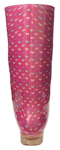 Womens P377 Umbrellas 5 with 4 Rain Snow Ladies 3 6 Pink HEARTS Boots Wellies Funky P369 BLUE Wellie 7 Sizes WITH PINK Girls 6 5 ZqEqnIr