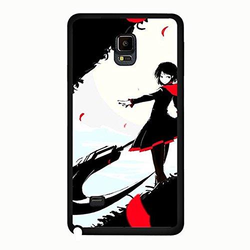 Samsung Galaxy Note 4Case RWBY schwarz Thema Rot Mädchen Einzigartiges Design Bezug