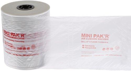 Case of 2 Mini Pakr MINP84 Air Pillow Roll 8 Length x 4 Width Clear 1066 Overall Length