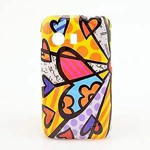 CL - Corazón Precioso pintura al óleo del patrón duro caso para Samsung GALAXY Y S5360