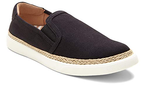 Vionic Women's Sunny Rae Slip-on Sneaker - Ladies Sneakers Concealed Orthotic Arch Support Black Black 8 M US
