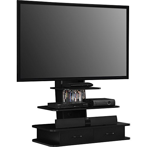 Altra Furniture Galaxy Tv Stand With Mount Drawers 70 Black New Ebay