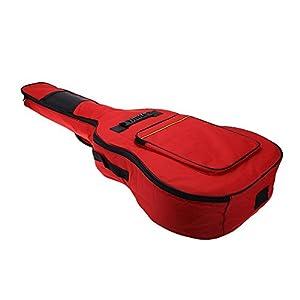 Gitarre Rucksack – TOOGOO(R)41″ Gitarre Rucksack Schultergurt Tasche 5 mm Baumwolle gepolsterte Tasche Case – rot