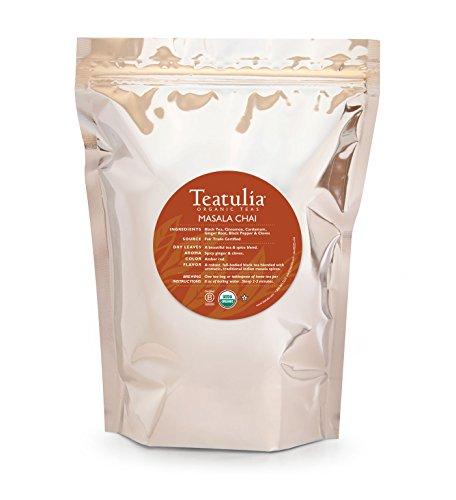 Teatulia Organic Chai Tea 50 Premium Pyramid Tea Bags by Teatulia