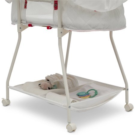 Delta Children Products, Deluxe Sweet Beginnings Bassinet, (White Eyelet)