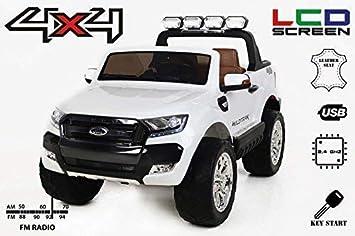 RIRICAR Ford Ranger Wildtrak 4X4 LCD Luxury, Coche eléctrico para niños, 2.4Ghz,