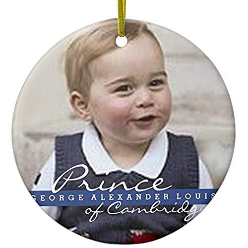 Cheyan Prince George - William & Kate Metal Ornament Circle