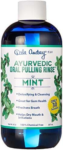 New & Improved ! Ayurvedic Oral Pulling Rinse by Dale Audrey, Mint,W/Neem, Myrrh, Clove & Oil of Oregano. 8oz (1.5 Month-1tsp) Natural & Organic! Swish (8 oz)