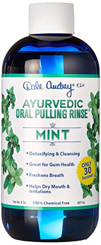 New & Improved ! Ayurvedic Oral Pulling Rinse by Dale Audrey, Mint,W/Neem, Myrrh, Clove & Oil of Oregano. 8oz (1.5 Month-1tsp) Natural & Organic! Swish 30 Seconds - 20 mins for an Amazing Cleanse! ()
