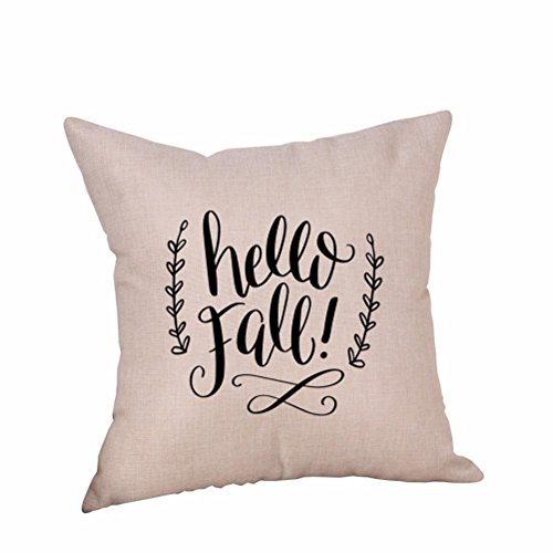 AmyDong Clearance Happy Halloween Pillow Cases Linen Sofa Cushion Cover Home Decor (K) -