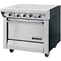 Garland M46S Master Series Heavy Duty 34 Gas Range with (2) 17 Even Heat Hot Tops & Storage Base
