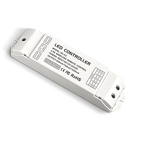 V2 Dimmer (LEDBUY360 R4-CC CC Zone Receiving controller 2.4G Wireless LED Receiver Constant Current Suitable for DX5, DX6, DX7, DX8, V1, V2, V3, V4, V5, V6, V7, V8, WiFi-104)