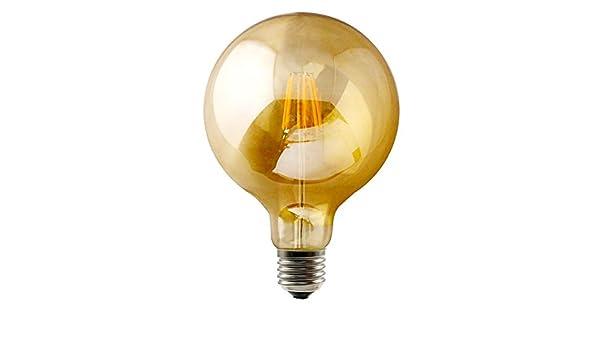 Bombilla LED Filament Vintage 9 W, forma balón, con cable de ...