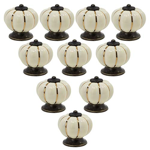 abcGoodefg Vintage Ceramic Pumpkin Cabinet Knobs 1.57