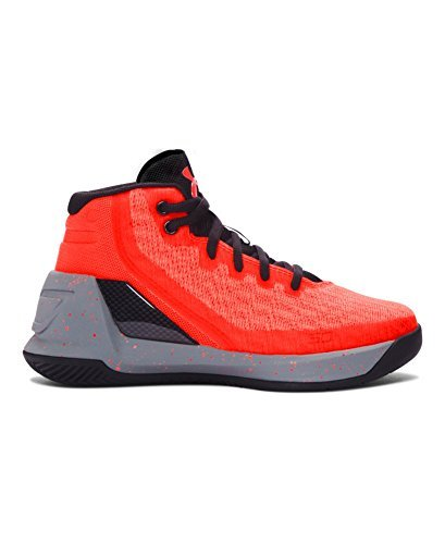 Under Armour Boys Grade School UA Curry 3 Basketball Shoes (11K M, Red Hot Santa/Steel/Black)