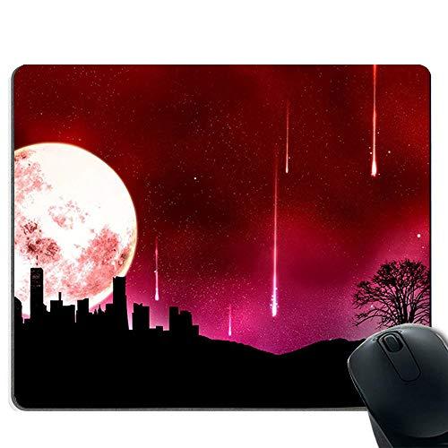(Mouse Pad Waterproof Mouse Mat Gaming Functional Non-Slip Rubber Base - Meteorite Falling)