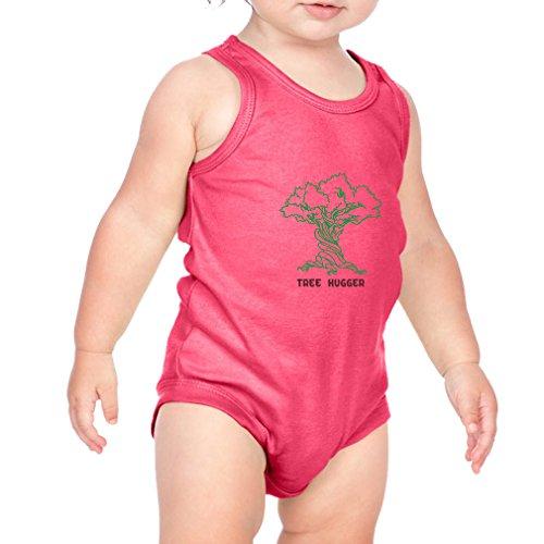 Tree Hugger Style 2 Infant Baby Tank Bodysuit Hot Pink 12 (Tree Hugger Tank)