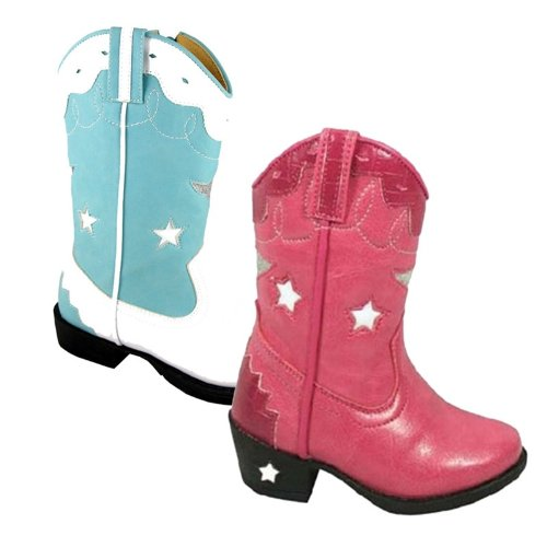 Smoky Children's Kid's Pink Austin Lights Western Cowboy Boot