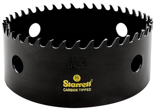 Starrett CT412 Steel High Performance Triple Chip Tungsten Carbide Tipped Hole Saw, Carbide Teeth, 4-1/2