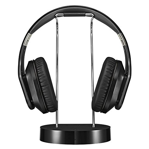 41GuLRamyiL - Noontec Hammo TV Wireless Headphones for TV Digital Bluetooth with Docking Base Low-Latency Anti-Interference 50 Hours Long Battery Life