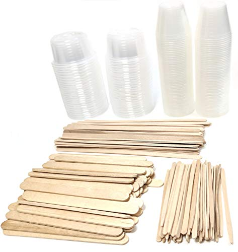 (NSI Epoxy Resin Mixing Kit: 100 Plastic Cups and 200 Wood Sticks)