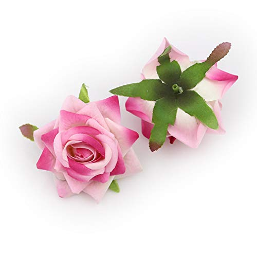 Rose Gold Artificial Leaves Wedding Crafts Millinery 12 Leaves Corsage