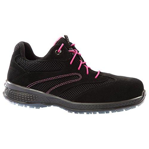 Giasco ku055hf42Mujer bajo zapatos, Danza, S1P, tamaño: US 8/tamaño UK: 42, negro/rosa