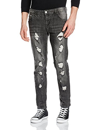 Jeans Grunge Slim Grey Original Uomo Fit Grey grunge Grau Shine wq6R7I