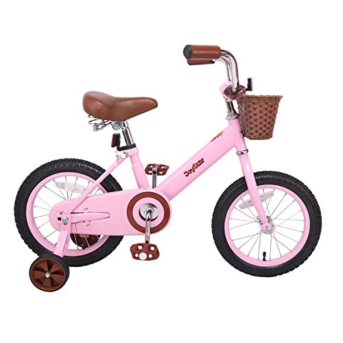 JOYSTAR 14 Inch Kids Bike for 3 4 5 Years Old Girls, Kids Bicycle with Front Basket & Training Wheels for 3-5 Years Child, Pink (Best Mountain Bike For 6 Year Old)