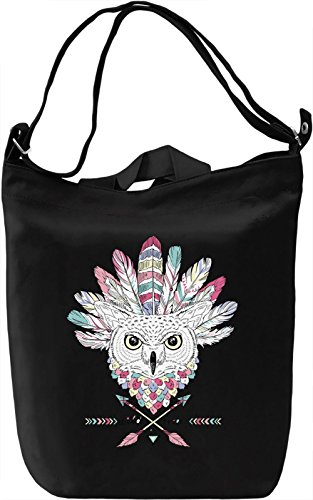 Indian owl Borsa Giornaliera Canvas Canvas Day Bag| 100% Premium Cotton Canvas| DTG Printing|
