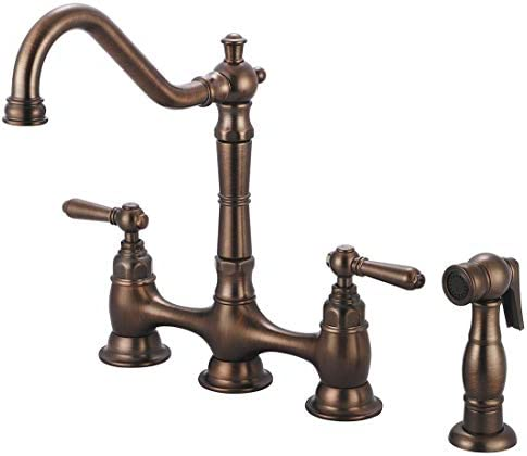 2AM501 Americana Double Handle Kitchen Faucet with Side Spray – Oil Rubbed Bronze