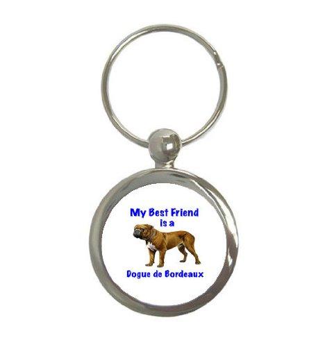 Mi mejor amiga es Dogo De burdeos llavero redondo: Amazon.es ...