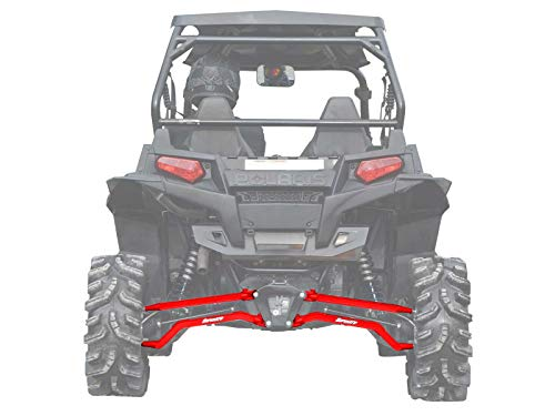 (SuperATV High Clearance Boxed Rear Radius Arms/Rods for Polaris RZR XP 900 / XP 4 900 (2011-2014) - Red)