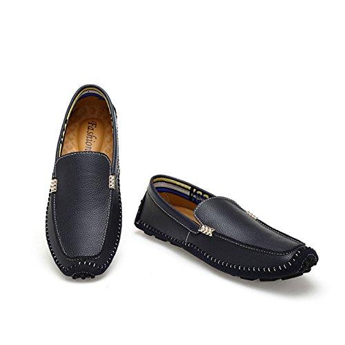 Grande Mens Mocassins Taille Slip Mocassins Décontractés Taille Couleur K on amp; Conduite Mocassins Cuir Nouveau 36 Chaussures PqBdFF