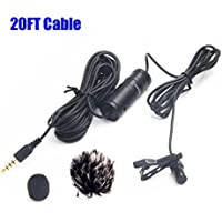 20FT Lavalier Microphone, Nicama LVM1 Omni-Directional...
