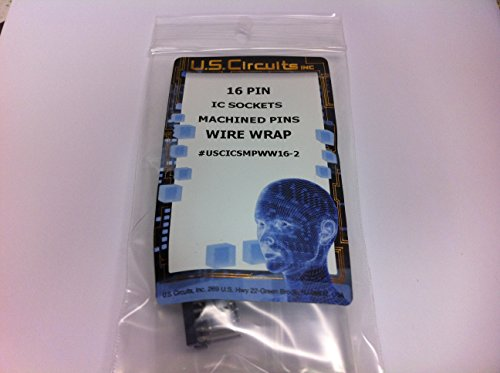 (U.S.Circuits 16 Pin Wire Wrap IC SOCKETS Machined Pins 2 Pack)