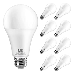 LE 100 Watt Equivalent A21 LED Light Bulbs, 13W LED Bulbs, Super Bright 1200 Lumens 5000K Daylight White, 200 degree Beam Angle , Non-Dimmable E26 Medium Base Bulbs, Pack of 8