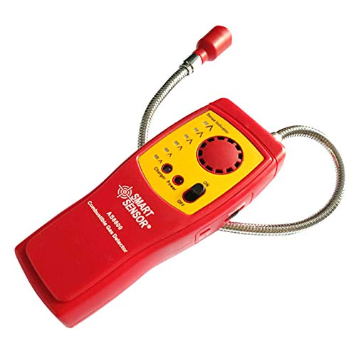 Natural Gas Propane Detector Explosive Combustible Gas Sniffer Rechargeable with Case Methane Leak Alarm Detection Sensor Tester Meter