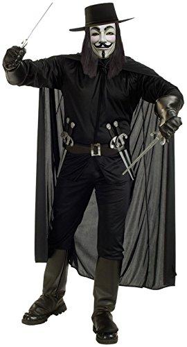 V For Vendetta Adult Costume - X-Large -