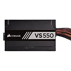 Corsair VS550 550 W Active PFC 80 PLUS Certified Power Supply Unit – Black