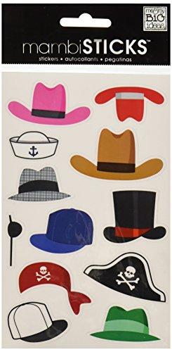 me & my BIG ideas mambiSTICKS Sticker Pack, Hats