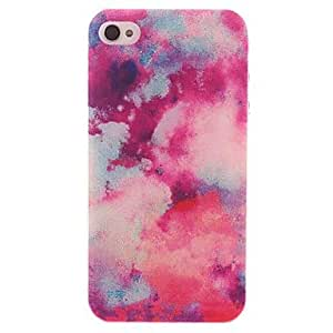 HP DF Beautiful Sky Pattern PC Hard Case with Black Frame for iPhone 4/4S